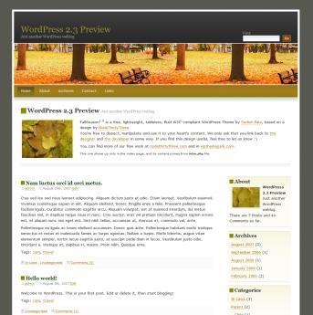 2 Column WordPress Themes WordPress Theme Park » FallSeason Two Column WordPress Theme