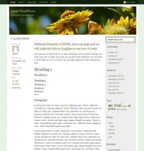 GreenLife WordPress Theme